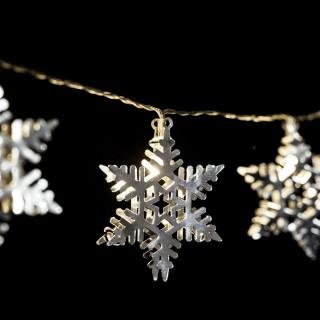 Guirlande intérieure de Noël LED étoile Xmas - L. 135 cm - Or