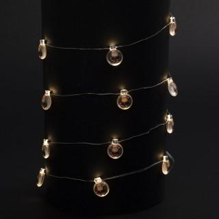 Guirlande de Noël lumineuse ampoule Xmas - L. 190 cm - Père Noël
