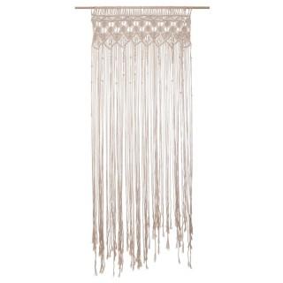 Rideau à fil design macramé Rituality - L. 90 x H. 200 cm - Beige