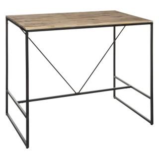 Table haute design industriel Edena - L. 115 x H. 98 cm - Noir