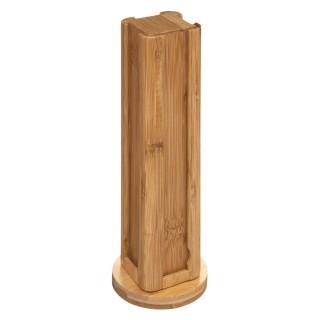 Porte capsules design Bambou cuisine - H. 29 cm - Marron