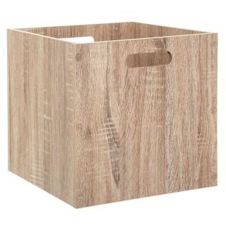 Boîte de rangement design bois Mix n' modul - L. 30 x l. 30 cm - Couleur chêne naturel
