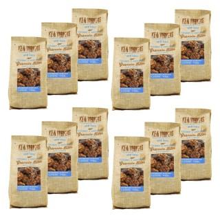 Lot 12x Billes de granola chocolat coco - Newyorkers - paquet 125g