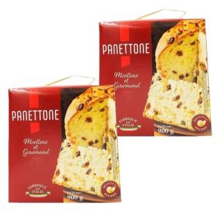 Lot 2x Panettone Pur Beurre - Italie - boîte 900g