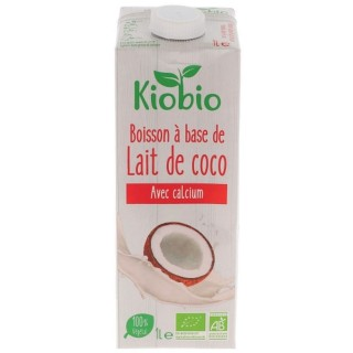Boisson végétale BIO lait de coco - Kiobio - brique 1l