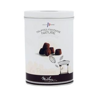"""Truffes cacao nature """"Les Parisiennes"""" - Mathez - boîte métal 200g"""