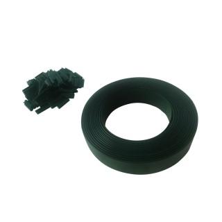 Lamelle occultante avec clip de fixation de 50 m - Vert