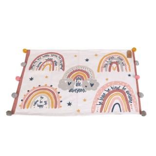 Tapis pour chambre d'enfant à pompons - 60 x 90 xm. - Multicolore