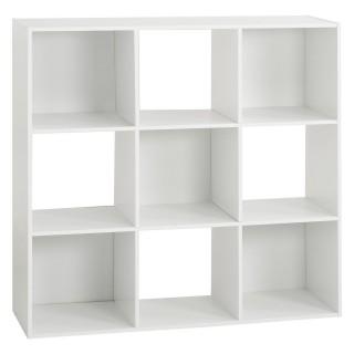 Etagère cube design Mix'n modul - L. 100 x H. 100 cm - Blanc