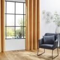 Rideau de salon occultant 8 œillets modèle Otto - 140 x 260 cm - Ocre
