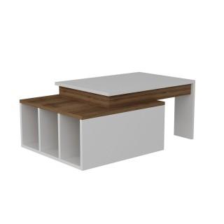Table basse Kolarado - Blanc et Marron