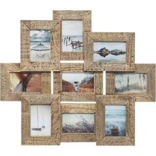 Pêle-mêle Elsa en bois 9 photos - 69 x 60 cm