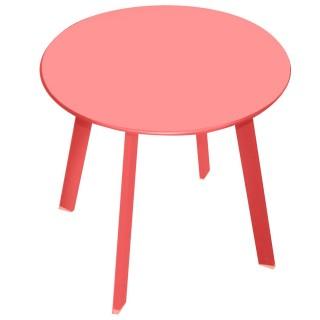 Table d'appoint en métal ronde modèle Mistral - Diam. 50 cm. - Groseille