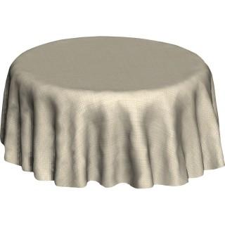 Nappe ronde en toile cirée design Lining - Diam. 150 cm - Ecru