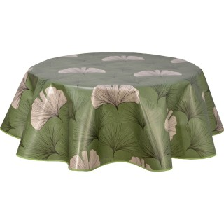 Nappe ronde en toile cirée design Chantou - Diam. 150 cm - Vert