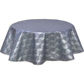 Nappe ronde en toile cirée  design Kad - Diam. 150 cm - Gris