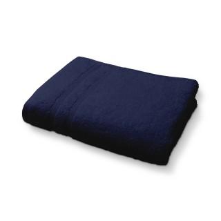 Lot 2x Serviette de toilette en coton - 50 x 90 cm - Bleu foncé