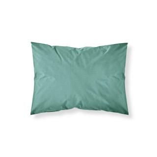 Lot 2x Taie d'oreiller Diabolo Menthe - 100% coton 57 fils - 50 x 70 cm - Bleu turquoise