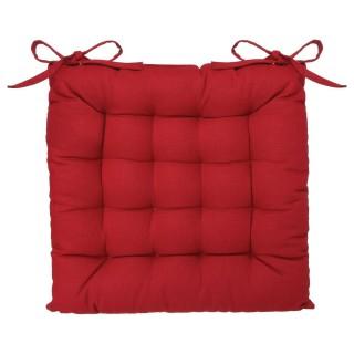 Lot 2x Coussin de chaise carré - Long. 38 cm - Rouge