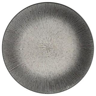 Lot 2x Assiette plate Atelier - Céramique - Gris
