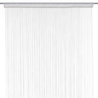 Lot 2x Rideau fils - 90 x 200 cm - Blanc
