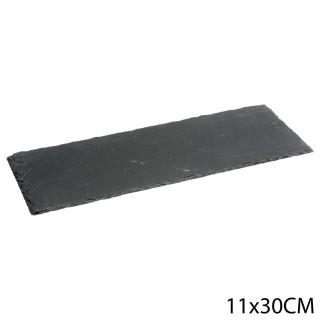 Lot 6x Assiette en ardoise - L. 30 cm