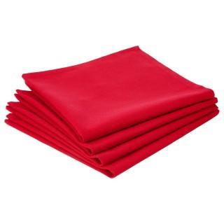 Lot 2x 4 Serviettes de table - Coton - Rouge