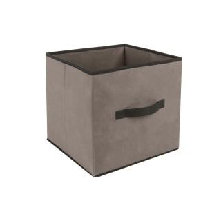 Lot 2x Boîte de rangement pour meuble - 31 x 31 cm. - Taupe