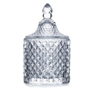Lot 2x Bonbonnière Diamant - Verre