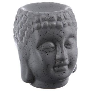 Lot 2x Brûle parfum en céramique - Bouddha - Gris
