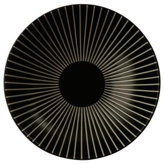 Lot 2x Assiette creuse Sun - Diam. 19 cm - Noir