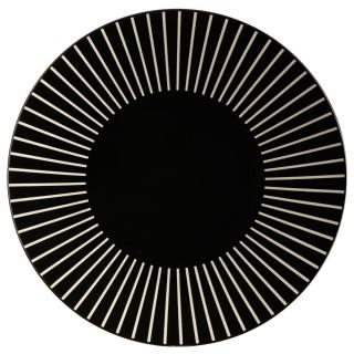 Lot 2x Assiette plate Sun - Diam. 27 cm - Noir