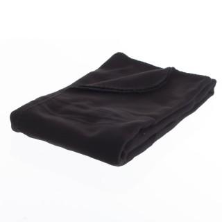 Lot 2x Plaid polaire - 125 x 150 cm - Noir
