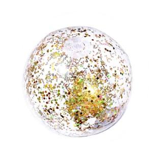 Lot 2x Ballon gonflable Paillettes - Diam. 35 cm - Doré