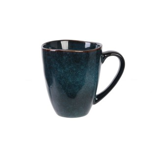 Lot 2x Mug design Au gré du temps - 300 ml - Bleu