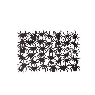 Lot 6x Décoration d'Halloween - Set de table araignées - Noir
