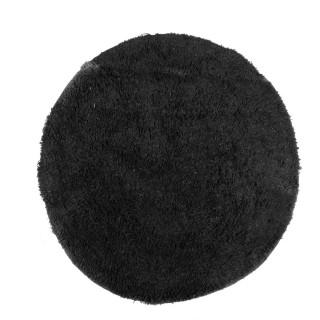 Lot 2x Tapis de salle de bain rond moelleux Bolbo - Diam. 60 cm - Noir