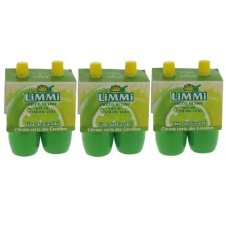 Lot 3x Jus de citron vert pressé - Limmi -  2 flacons 125ml