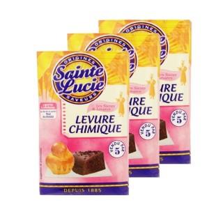 Lot 3x Levure chimique - Sainte Lucie - 5 sachets 10g