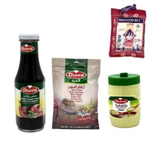 Mélasse de grenade, tahin et zaatar rouge + 500g riz basmati Mahmood OFFERT