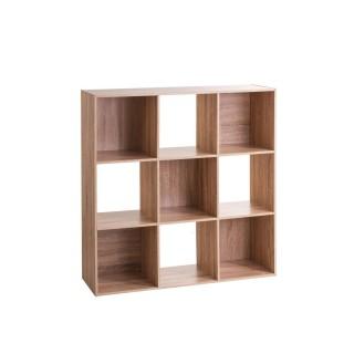 Etagère cube design Mix'n modul - L. 100 x H. 100 cm - Couleur chêne naturel