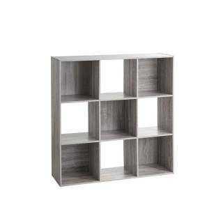 Etagère cube design Mix'n modul - L. 100 x H. 100 cm - Couleur Gris