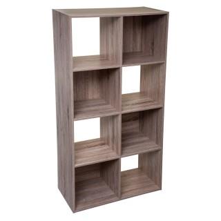 Etagère cube design Mix'n modul - L. 67 x H. 134 cm - Couleur chêne naturel