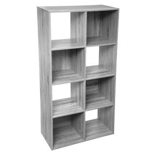 Etagère cube design Mix'n modul - L. 67 x H. 134 cm - Gris