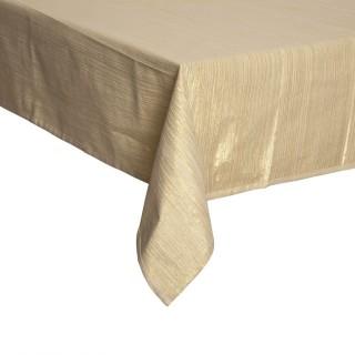 Nappe en coton lurex - 140 x 240 - Doré