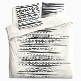 Parure de Lit imprimé Jungle  en 240 x 220 - Noir et Blanc
