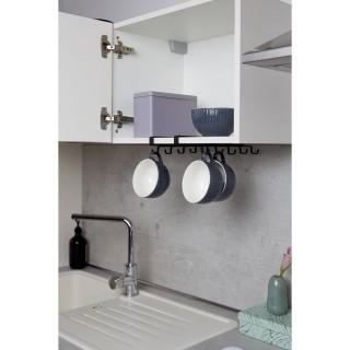 Accroche-tasses en métal pour étagère - Noir