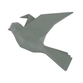 Oiseau mural mat Origami - Vert