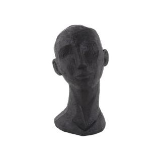 Statue Face Art en polyrésine - Noir