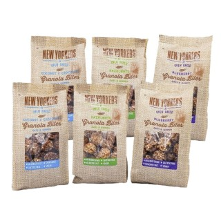 Assortiment billes de granola : choco/coco, myrtilles et noisettes